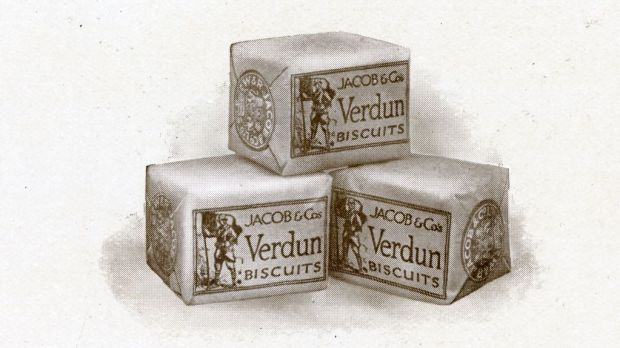 The original Verdun biscuits. Photograph: Courtesy of Dublin City Library and Archives.