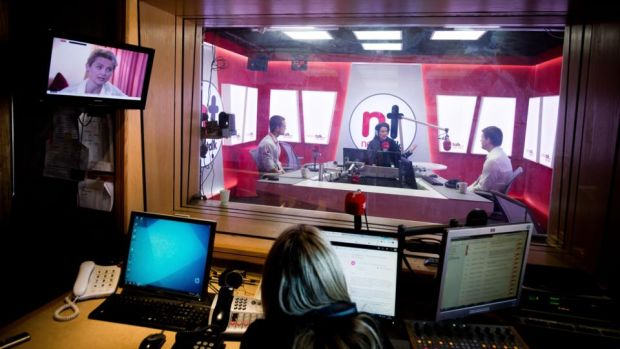 Lunchtime Live: Ciara Kelly in the studio at Newstalk. Photograph: Tom Honan