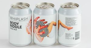 A selection of cans from Whiplash Brewing Company