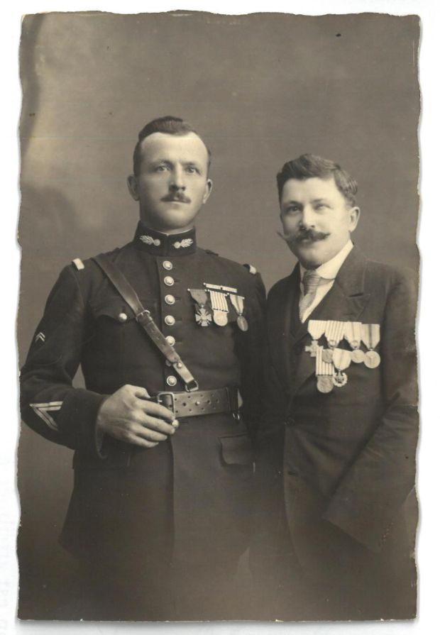 Louis and Émile Frère from the Somme were both wounded in the first World War. Louis's grandson Dominique now works at the Historial de la Grande Guerre in Péronne
