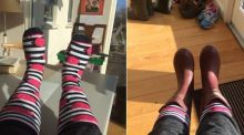 What's making you happy? Stripy socks, U2 and a good lie-in