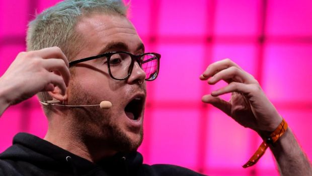 Whistleblower Christopher Wylie speaks on the centre stage of Web Summit where he outlined how shocked he was at seeing how little knowledge regulators had about technology. Photograph: AFP/Getty Images