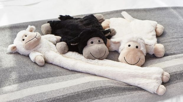 Francis Brennan's cuddly sheep hot water bottles