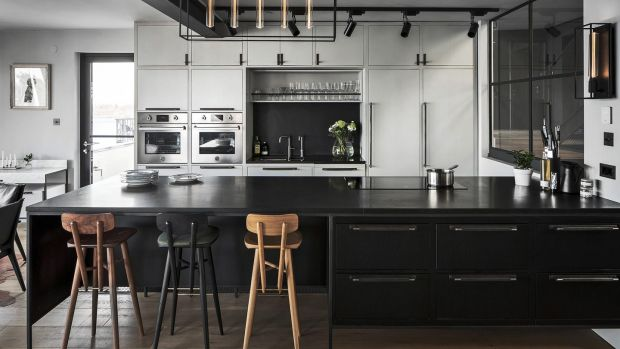 Kitchen featuring lights and handles by Buster + Punch