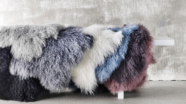 Sheepskin rugs from Broste Copenhagen