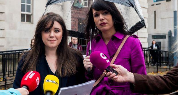 5213f327e81cc Solicitor Jemma Conlon (left), the woman's lawyer, and Amnesty  International Northern Ireland