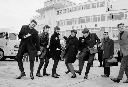 A MOMENT IN TIME: The Beatles arrive at Dublin Airport before playing at the Adelphi Cinema on November 7th, 1963. Copyright Irish Archive