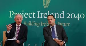 "The new Minister for the Environment Richard Bruton (left) says Project Ireland 2040 was designed to ensure that future growth is ""compact, connected and sustainable"". Photograph: Nick Bradshaw"