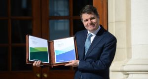 "Minister for Finance Paschal Donohoe in advance of delivering Budget 2019 at Government Buildings. ""In relation to engagements with my department, I wasn't lobbied on this in relation to any stakeholder."""