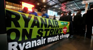 """Contrary to these invented claims, Ryanair has experienced very little industrial action this year from its staff,"" the airline argues. Photograph: Yves Herman/File Photo/Reuters"