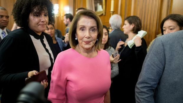Nancy Pelosi, the top Democrat in Congress, criticised the firing of Jeff Sessions. Photograph: Michael Reynolds/EPA