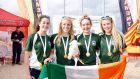 From left: Denise Bolger, Lily Barrett, Emer Kelly and Róisín Cahill will represent Ireland at the World Surf Lifesaving Championships.