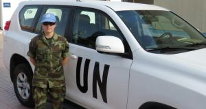 Cpt Ciara Ní Ruairc,  from Kildare, is part of the UN Mission for the Referendum in Western Sahara (MINURSO), which was first deployed in 1991