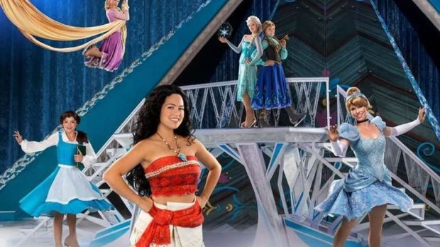 Icy tales of courage and heart: some of the characters in Disney on Ice: Dream Big show