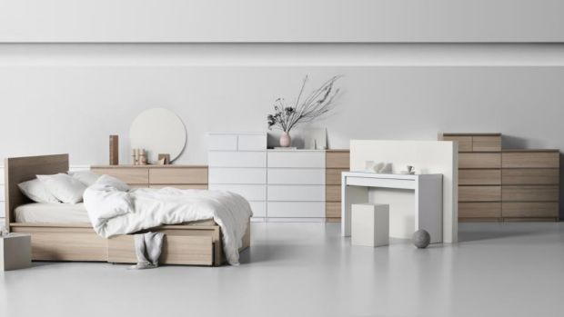 Malm drawer units: at €70 and €90, they are very popular in Ireland