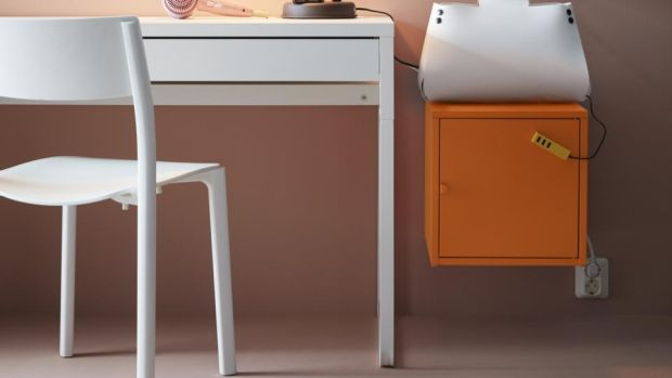 Micke (€60): a task desk designed to fit into small spaces