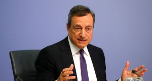 "Mario Draghi: ""I am conscious that I am speaking in a country that went through a severe crisis."" Photograph: Reuters"