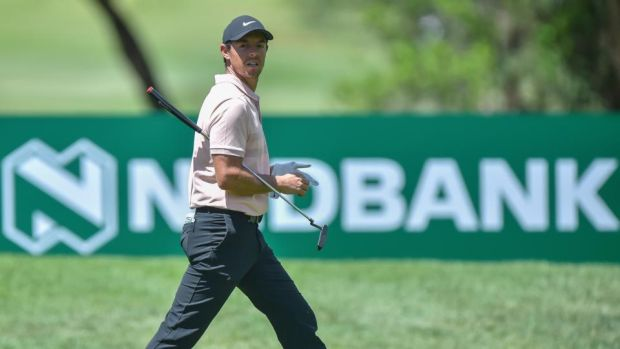 Rory McIlroy carded a level-par 72 in the first round of the Nedbank Golf Challenge in Sun City, South Africa. Photograph: Christiaan Kotze/EPA
