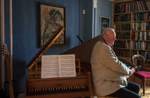 IN MEMORIAM: Image from November 2016 of pianist, composer and academic Mícheál Ó Súilleabháin at his home in Newport, Co Tipperary. Photograph: Brenda Fitzsimons/The Irish Times