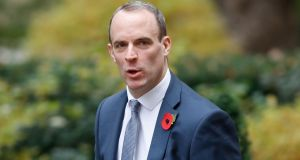 Britain's Brexit Minister Dominic Raab: admitted he underestimated the consequences of crashing out of the EU without a deal.  Photograph: Tolga Akmen/AFP/Getty Images