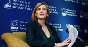 "Former US ambassador to the UN Samantha Power in Dublin. ""Suddenly, the electoral map and the prospects of Democrats competing in districts that had been written off has expanded dramatically."" Photograph: Donall Farmer"