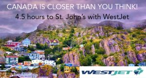 Win 2 return flights to St. John's, Canada from Dublin thanks to WestJet