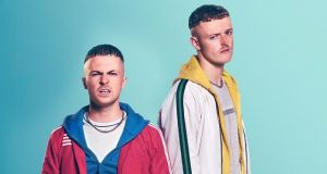 Young Offenders Conor MacSweeney (Alex Murphy) and Jock O'Keeffe (Chris Walley). Photograph: Miki Barlok