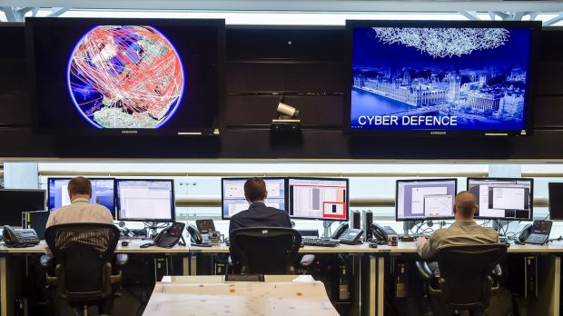 The 24-hour Operations Room inside GCHQ, in Cheltenham, England. Photograph: Ben Birchall/ WPA Pool/Getty Images