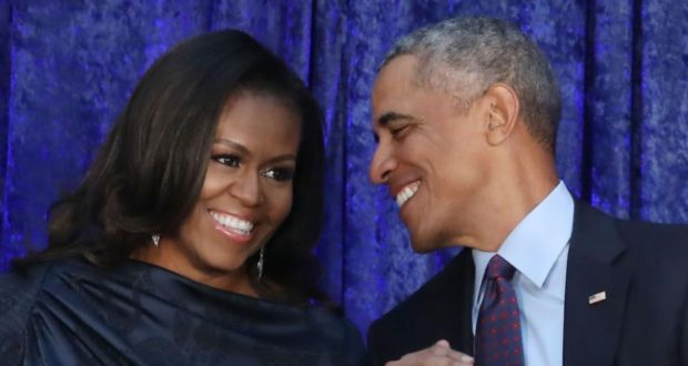 IVF: Michelle and Barack Obama in February. Photograph: Mark Wilson/Getty