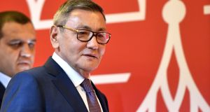 The newly elected president of the International Boxing Association (AIBA) Gafur Rakhimov. Photograph: Getty Images