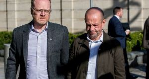 Investigative journalists Trevor Birney and Barry McCaffrey: were arrested in August in connection with alleged theft of a document. Photograph: Liam McBurney/PA