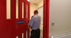 The visiting box in the new National Violence Reduction Unit in the Midlands Prison, Portlaoise. The unit is due to open to prisioners next week Photograph: Colin Keegan/Collins
