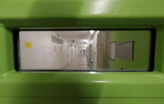A view from one of the cell's in the National Violence Reduction Unit in Portlaoise Photograph: Colin Keegan/Collins