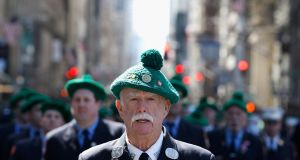 St Patrick's Day Parade in New York. Up to 5,000 visas a year could be made available to Irish citizens. Photograph: John Lamparski/Getty Images
