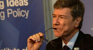 "Jeffrey Sachs describes Donald Trump as a ""nasty man"" and ""narcissistic, sadistic, impulsive"". Photograph: Cyril Byrne"
