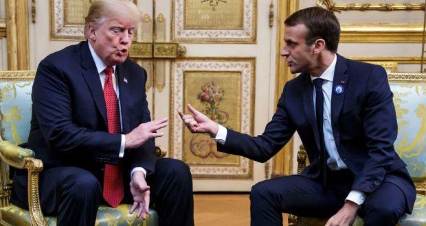 Trump criticó a Macron: