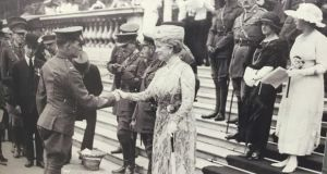 Martin Doyle receiving his Victoria Cross in June 1919 at Buckingham Palace