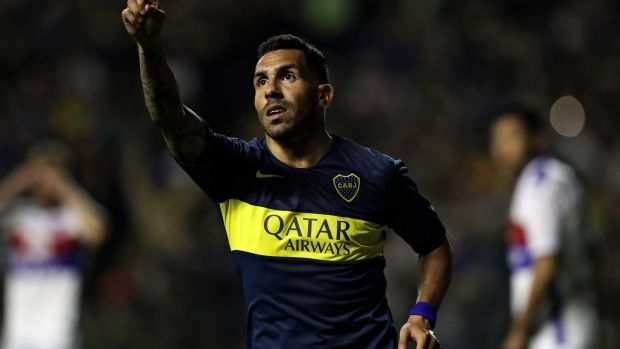 Boca Juniors' forward Carlos Tevez remains one of their key players. Photograph: Getty Images