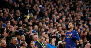 Eden Hazard and Chelsea were left frustrated by Everton. Photograph: David Klein/Reuters