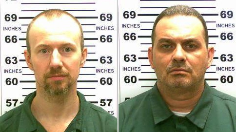 David Sweat (left) and Richard Matt, who escaped from an upstate New York prison in 2015. Ben Stiller's new miniseris is based on their real-life escape. Photograph: New York State Police/The New York Times