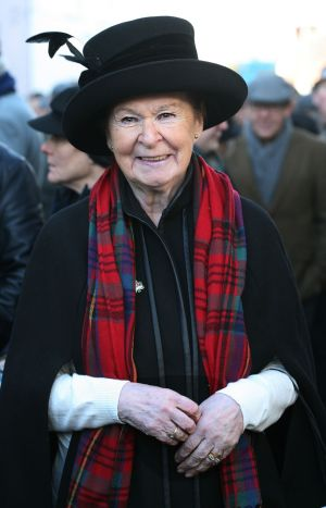 "Poppy Langan Hunt, whose grandfathers both fought in the first World War, at the Blue Raincoat Theatre Company's Armistice Day event in Sligo. Her grandfather Thomas Langan died in the war and his son, Tommy Langan, was one of the 'Noble Six"" executed on Ben Bulben during the Civil War. Photograph: Brian Farrell"