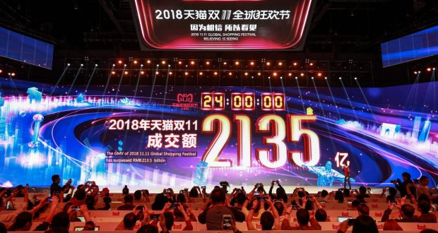Alibaba nets record €27bn on Singles' Day but growth rate