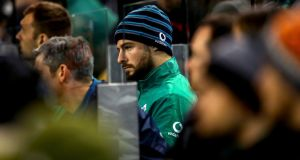 Robbie Henshaw will miss Saturday's All Blacks clash with a hamstring injury. Photograph:  James Crombie/Inpho