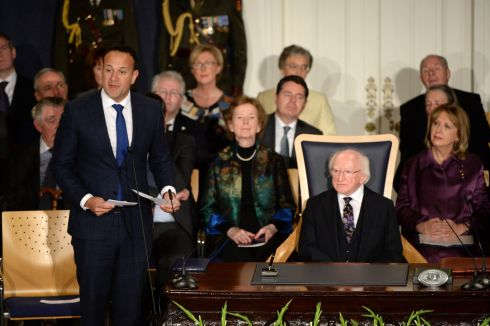 Taoiseach Leo Varadkar speaking at the inauguration. Photograph: Dara Mac Donaill