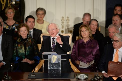 "The President said achieving this goal required a ""rigorous commitment to removing the many barriers to participation; recognising, strengthening and supporting the momentum and demand for equality, positive transformation and sustainability.""Photograph: Dara Mac Donaill / The Irish Times"