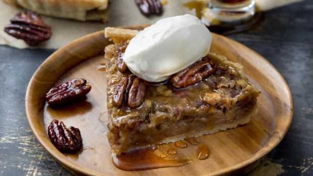 Maple-roasted pecan pie photographed by Harry Weir