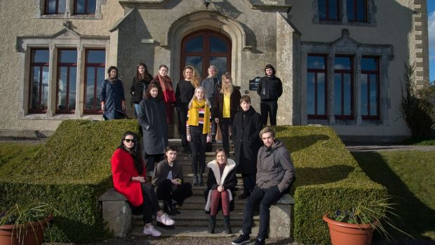 Artists at the Tyrone Guthrie Centre in Annaghmakerrig.