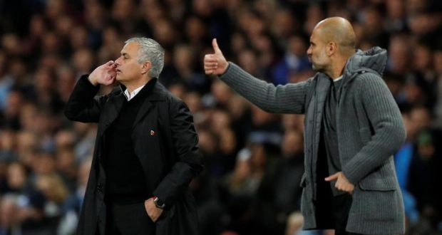 09228b007 Manchester City manager Pep Guardiola and Manchester United manager José  Mourinho. United s season is now