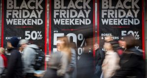 Of those who intend to do their Christmas shopping on Black Friday and Cyber Monday, about one-third will spend more than they did last year, a survey has found. Photograph: Rob Stothard/Getty Images