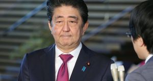 Japan's prime minister Shinzo Abe: plans  to halt the population decline at 100 million (it is  currently 127 million). Photograph: Jiji Press/AFP/Getty